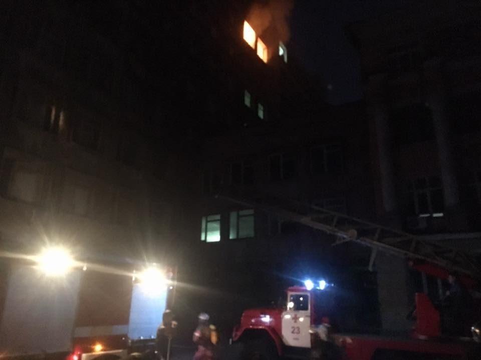 Пожар вспыхнул вКиевском университете пищевых технологий