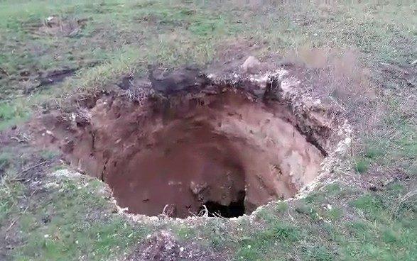 ВДонецкой области обвалилась земля наглубину 15 метров