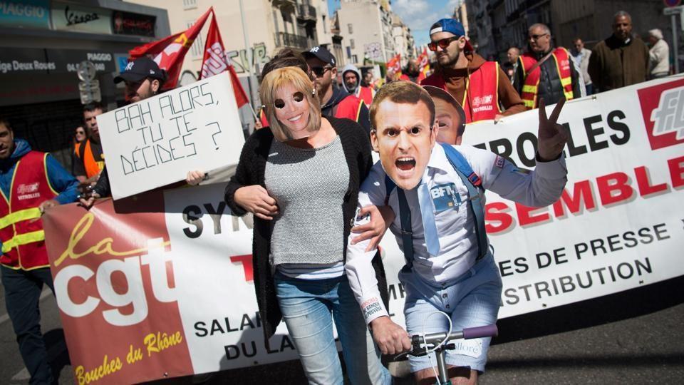 Митингующие громят банки ипереворачивают машины— Протест встолице франции