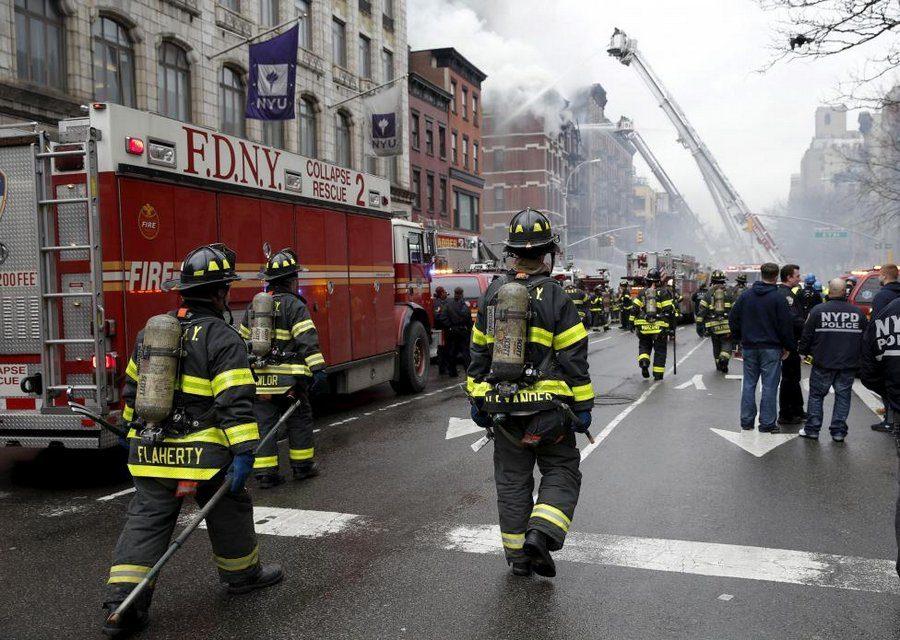 Впожаре  вНью-Йорке вжилом доме пострадали 9 человек