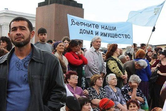Крымские татары заодиночные пикеты получают штрафы по 10 тыс. руб.