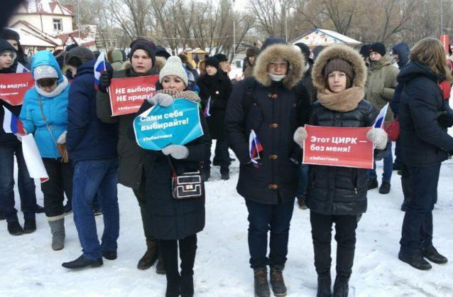 УРосії зростає число затриманих під час акцій Навального проти президентських виборів