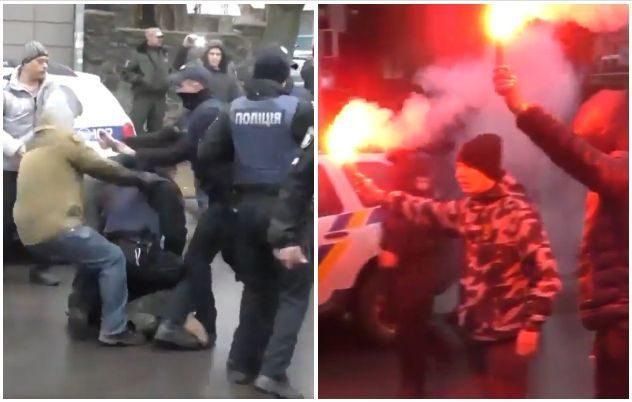 ВКременчуге произошла массовая потасовка между членами «Национальной дружины» иполицией