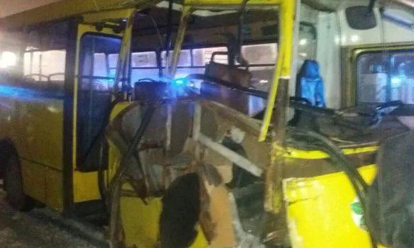 ВКиеве столкнулись две маршрутки: пострадали 12 человек