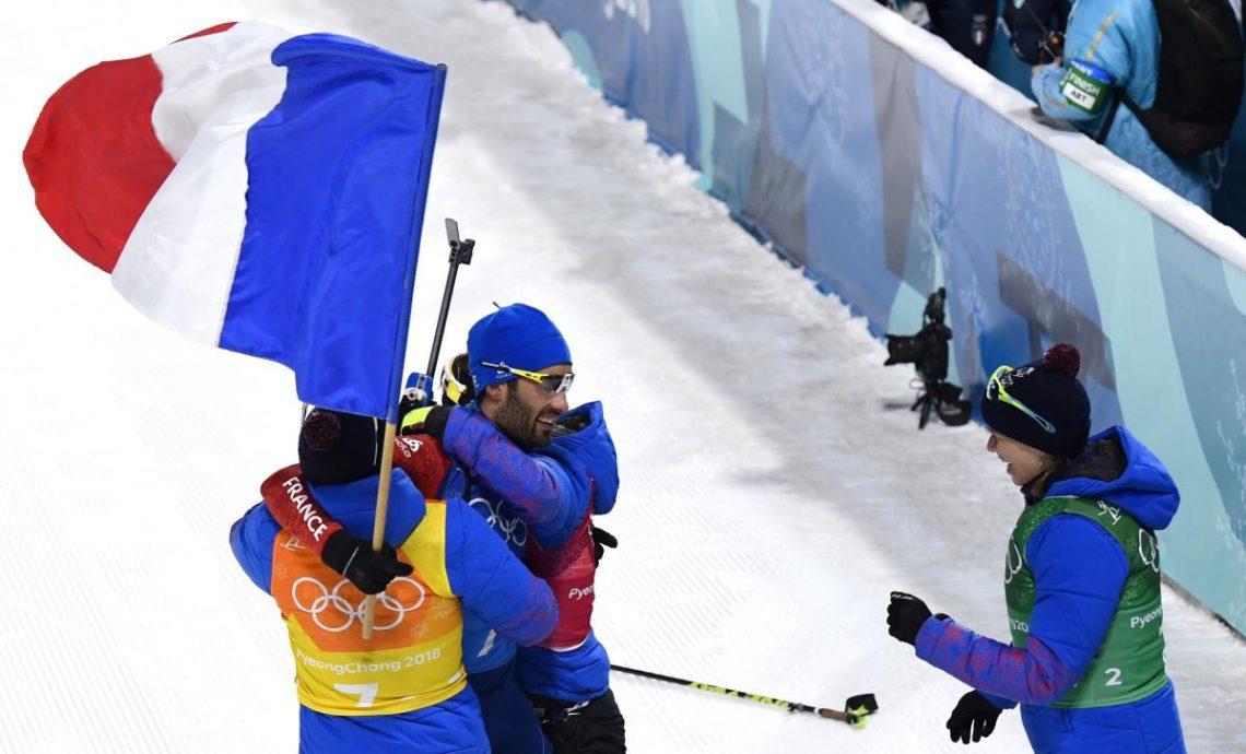 Французские биатлонисты выиграли смешанную эстафету наОлимпиаде-2018, жители России - 9-ые