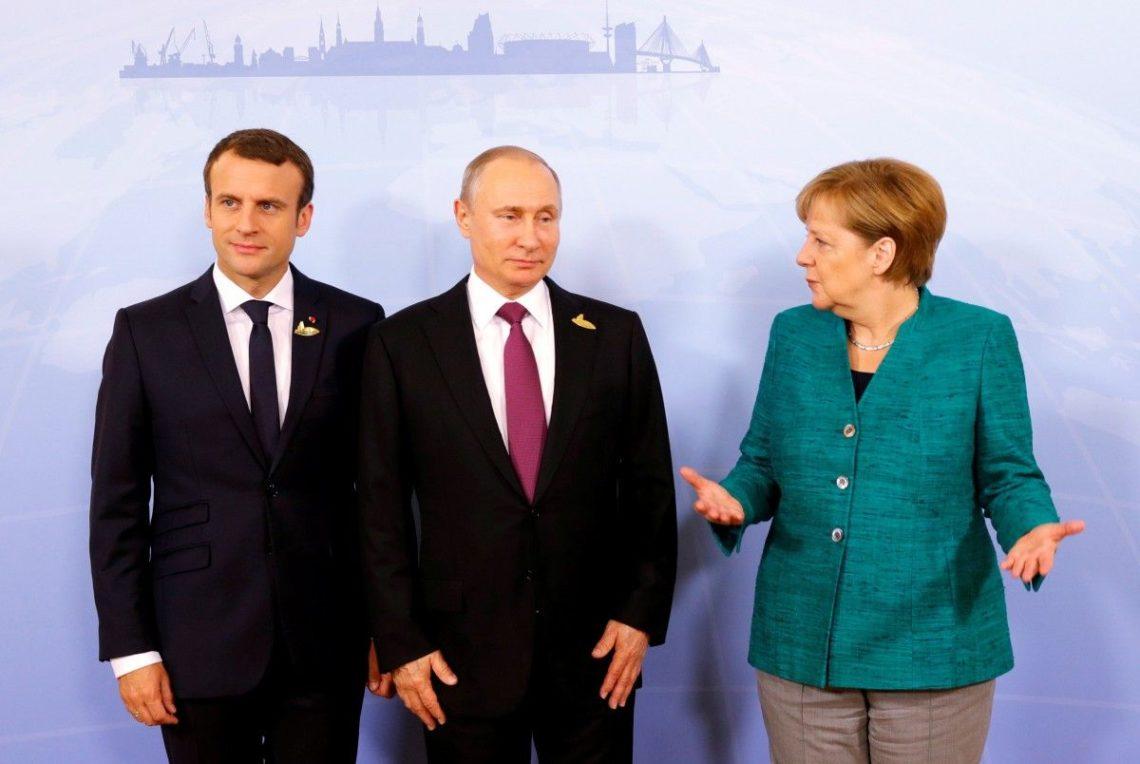 Путин обсудил Сирию сМакроном иМеркель