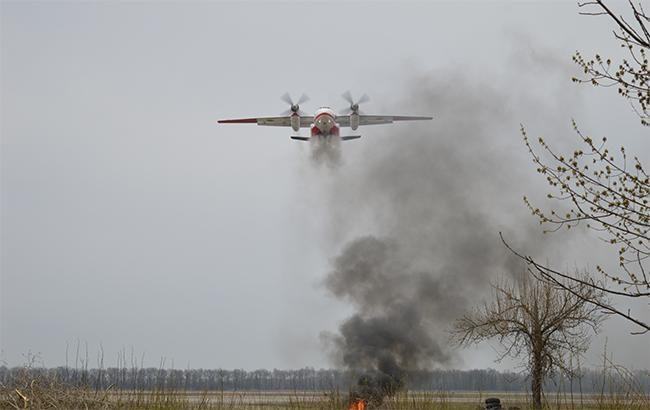 Около военного полигона вЧерниговской области зажегся лес