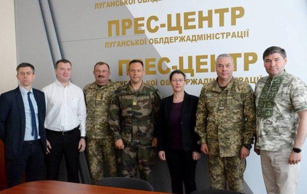 Посол Франции перед встречей вНормандском формате прибыла вЛуганскую область