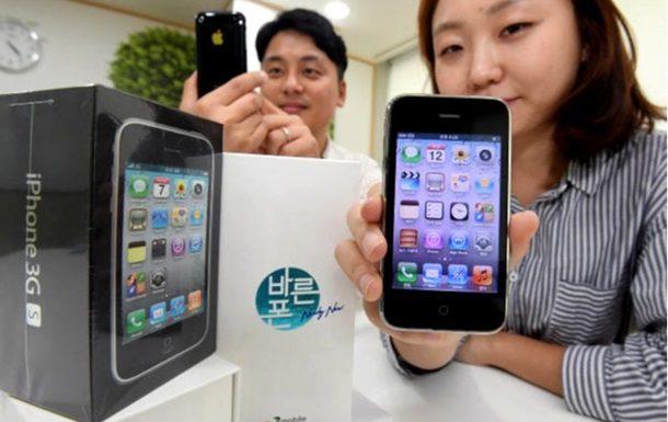 В Корее продают iPhone 3GS которыми пользовались ранее при этом гаджеты реализуются в новых упаковках с оригинальным комплектом зарядки и