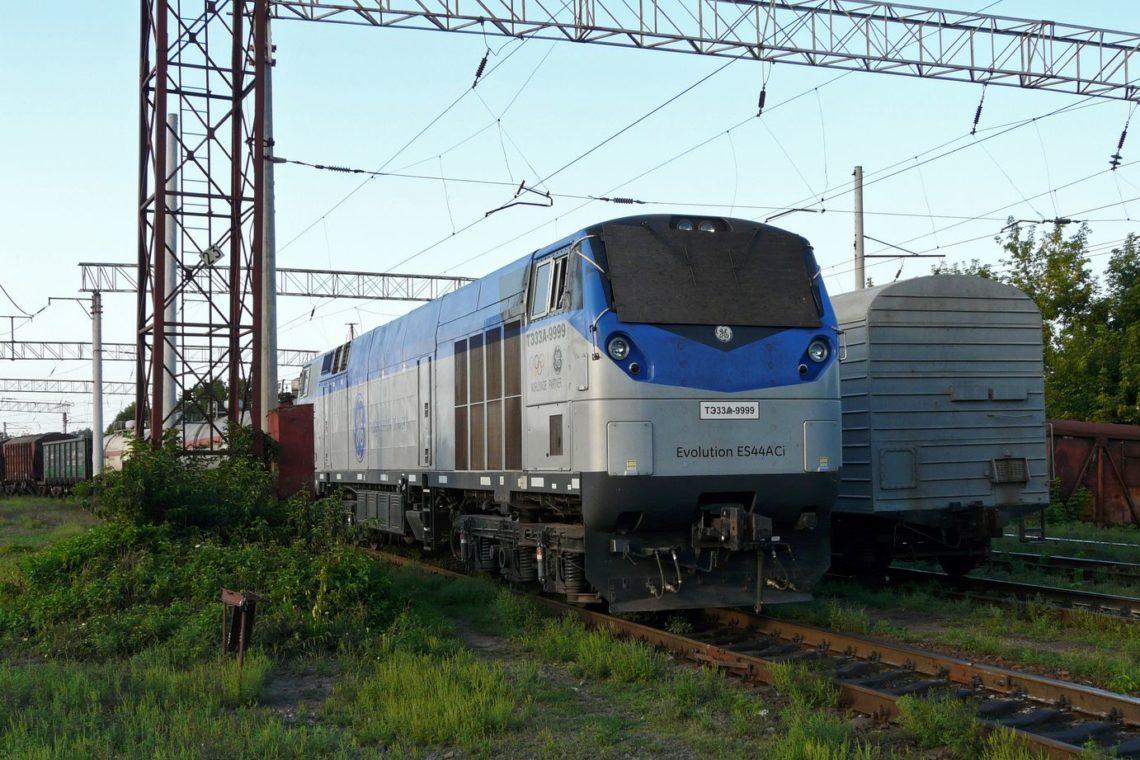 В Украинское государство прибыл 1-ый локомотив General Electric