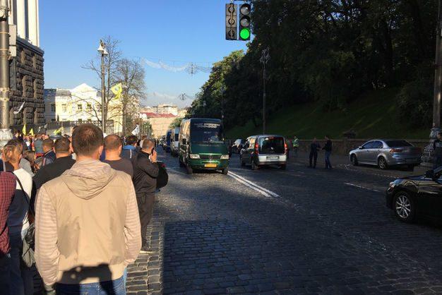 Евробляхеры остановили центр столицы Украины — Митинг под Кабмином