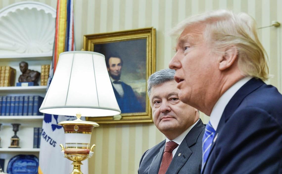 Порошенко попросил Трампа передать главе РФ сообщение. Украина готова защищать свою демократию и границы а Путину надо убираться прочь