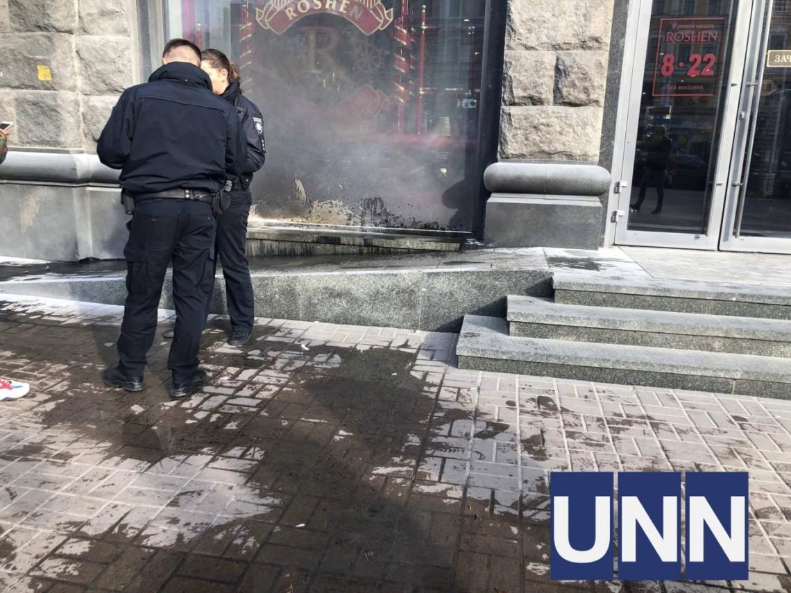 Чоловік, якого затримали за підпал магазину Roshen на Хрещатику, належить до радикальної екстреміської організації, яка планувала зірвати вибори.