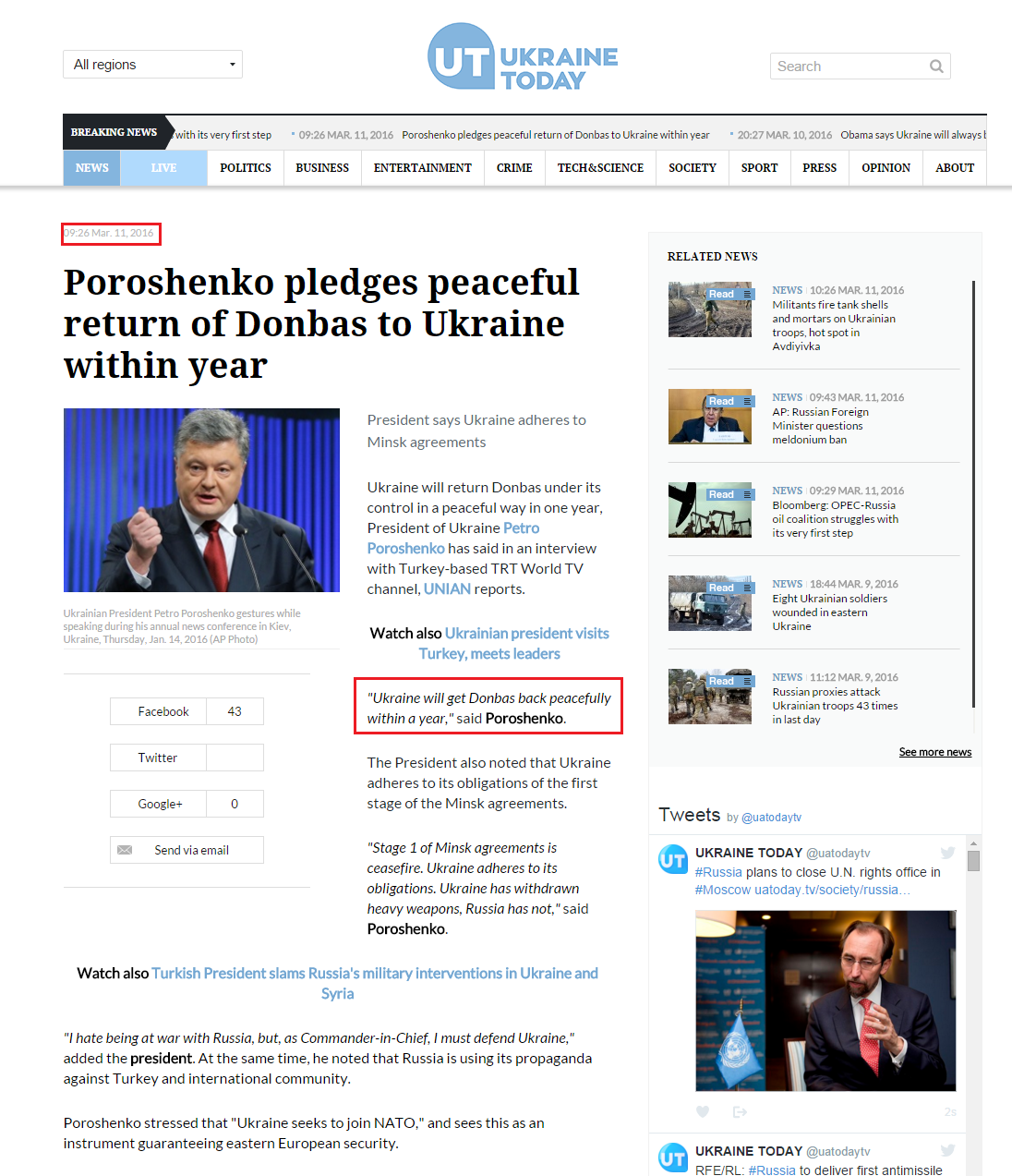 http://uatoday.tv/news/poroshenko-pledges-peaceful-return-of-donbas-to-ukraine-within-year-608017.html